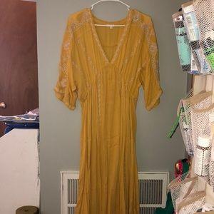 Yellow Hippie Dress